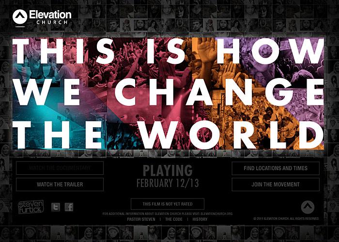 Elevation Church 5 Year Documentary microsite