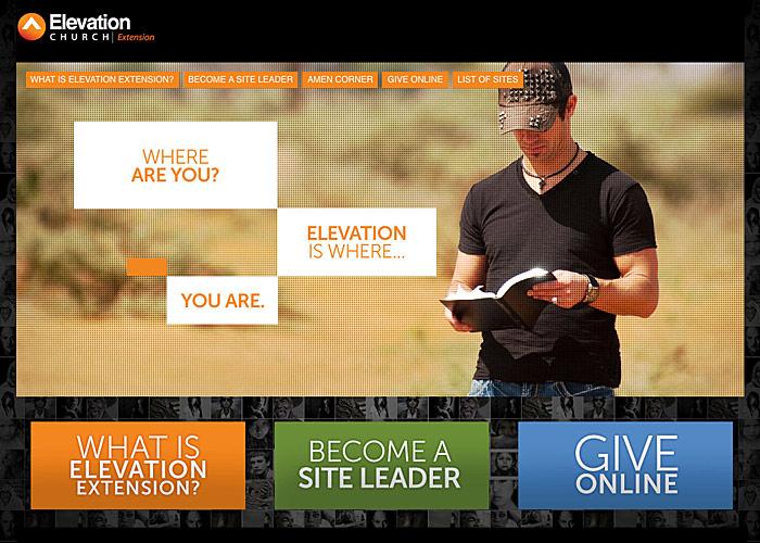 Elevation Church Extention website