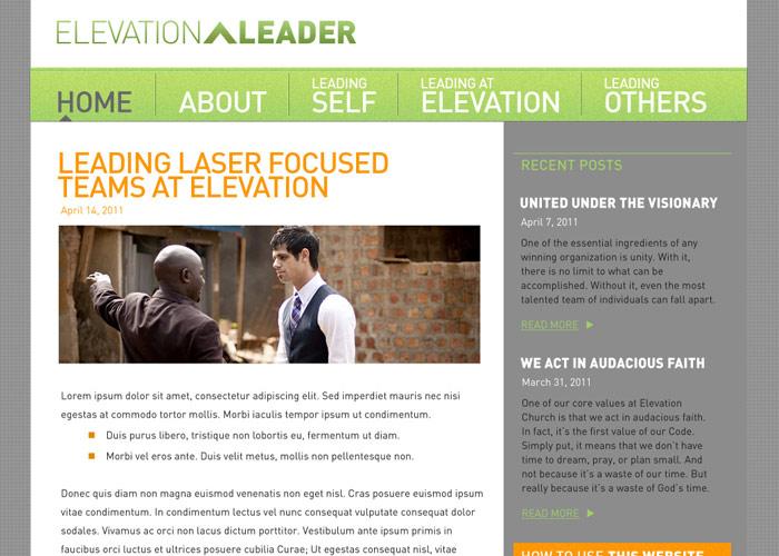 Elevation Church Leader website