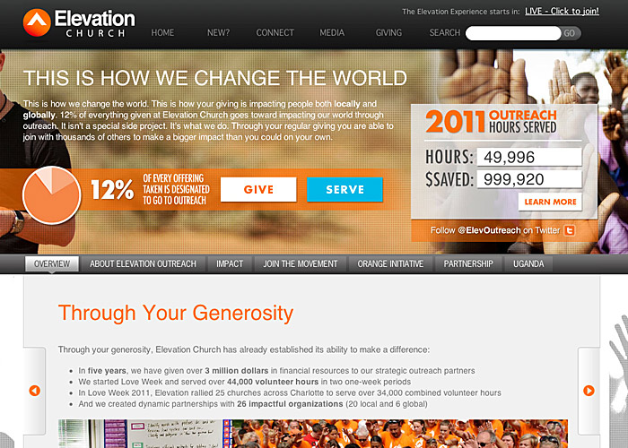 Elevation Church Outreach