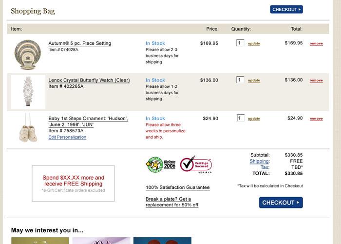 Lexox.com Shopping Bag