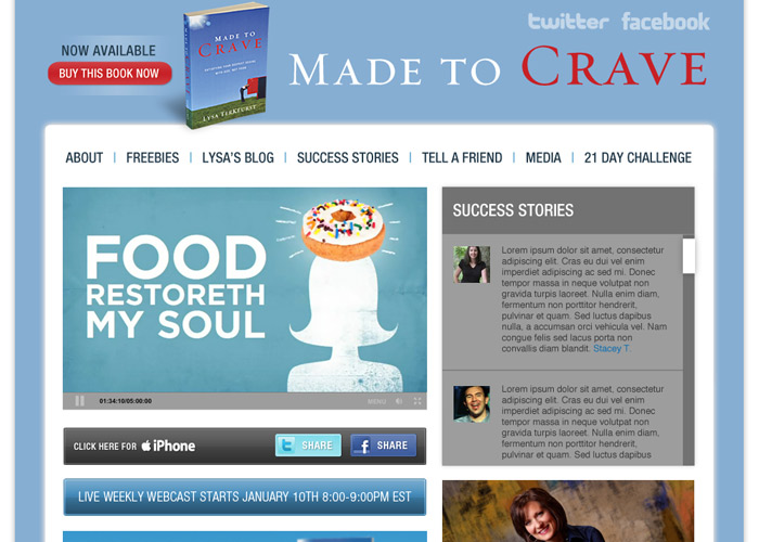 Made to Crave homepage