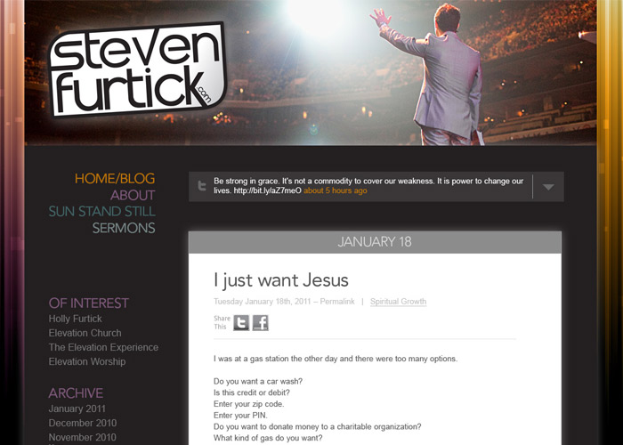 Steven Furtick homepage