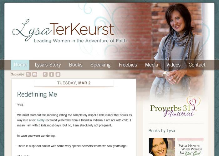 Lysa TerKeurst homepage