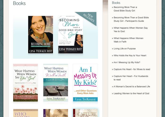 Lexox.com Book Gallery page