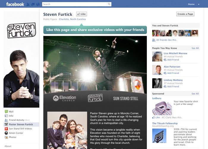 Steven Furtick Facebook fanpage